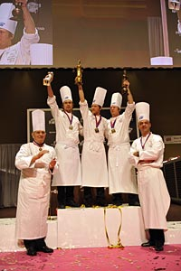 Podium des Bocuse d'or 2011