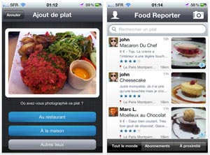 Food Reporter pour iPhone