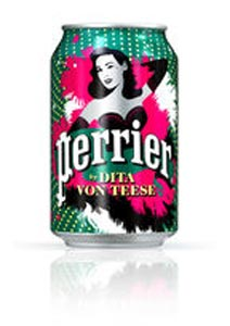 Canette Dita von Teese Perrier 2011