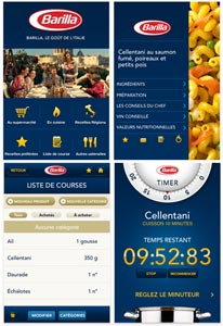 L'application iPasta de Barilla