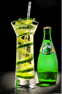 Cocktail Perrier D-Tox Perrier par Laurent Greco