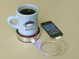 Un café pour charger l'iPhone