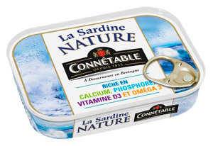 La sardine nature Connétable