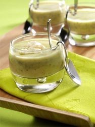 Gaspacho de courgette au Chaource
