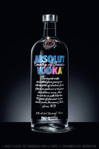 La bouteille Absolut Vodka Warhol Edition