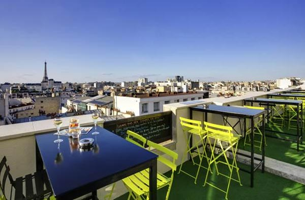 Rooftop bar Novotel Vaugirard