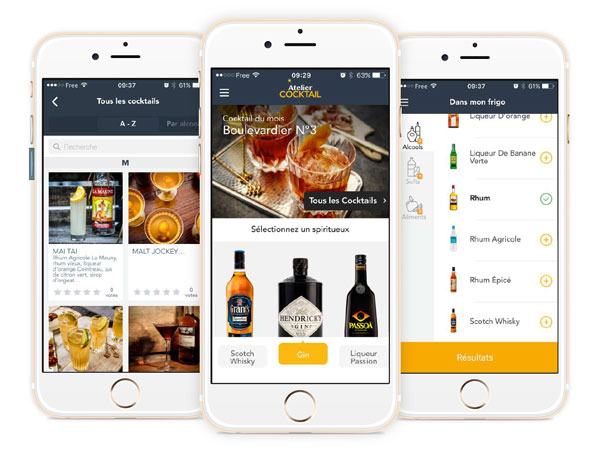 La nouvelle application mobile Atelier Cocktail
