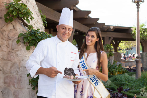 Miss France 2016 et le Chef Ludovic Mallac