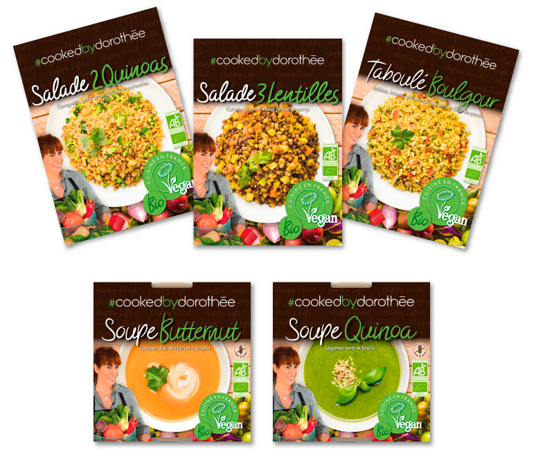 Salades et soupes CookedbyDorothee