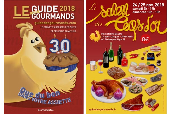 Le Guide des Gourmands et le salon Les Coqs d'Or