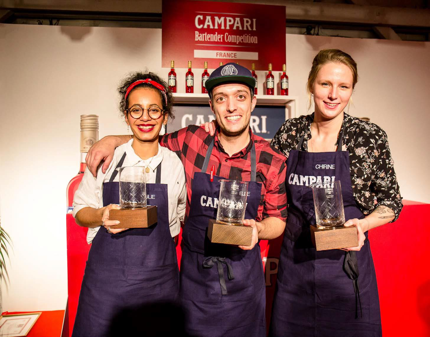 Le podium du Campari Bartender Competition 2018